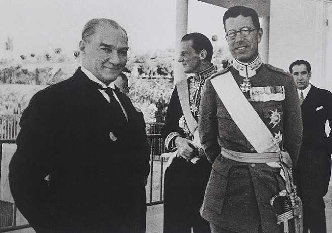 Atatürk ve İsveç Veliahtı Gustav Adolf