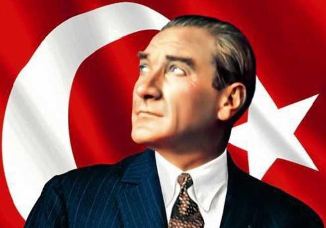 Atatürk ve Türk Bayrağı Resmi
