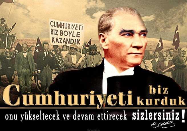 Cumhuriyeti Biz Kurduk Atatürk Resmi
