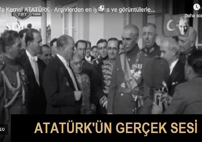 Atatürk'ün Hiç Duyulmamış Gerçek Sesi Ortaya Çıkarıldı